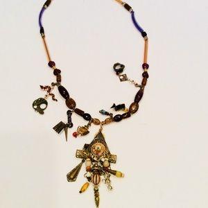 Jewelry - Woman's glass charm necklace